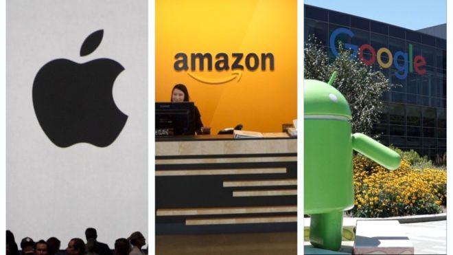 Apple, Amazon y Alphabet, ¿cuál será la primera empresa del mundo en alcanzar un valor de un billón dedólares?