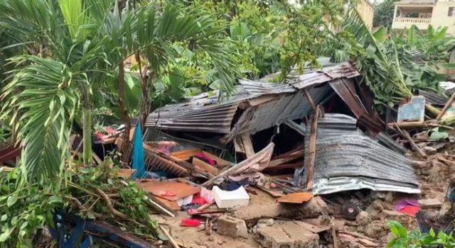En Manoguayabo madre e hija mueren al derribarse pared devivienda