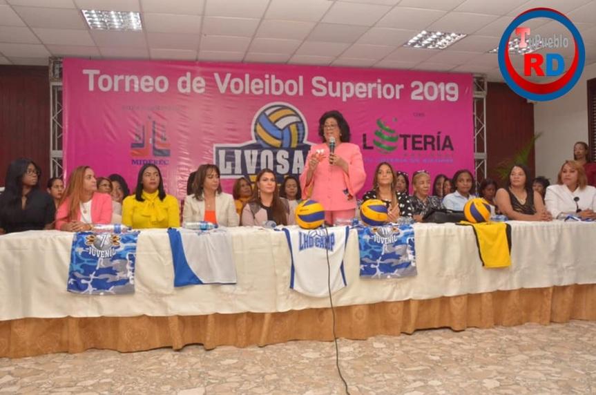Senadora Cristina Lizardo anuncia inicio de Torneo Superior deVoleibol