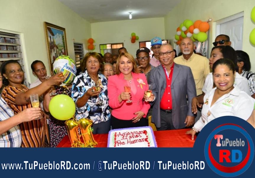 La Diputada Ana María Peña encabeza acto por aniversario de FundaciónPRO-HUMANO