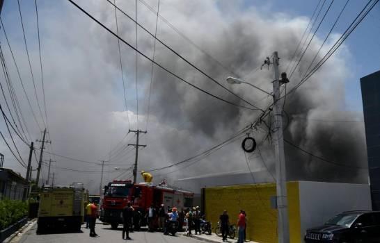 Fuego afectó a la Junta CentralElectoral