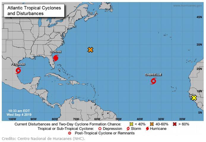 La tormenta tropical Gabrielle se forma en elAtlántico