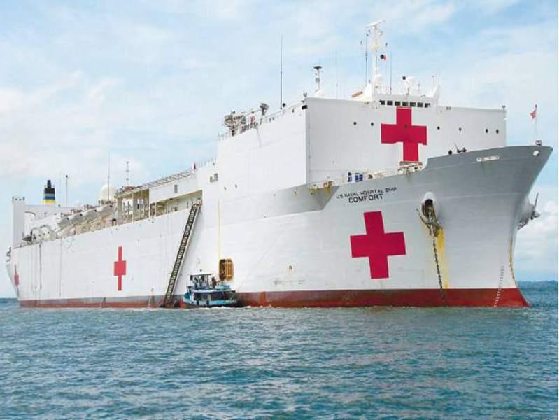 Reciben en RD buque hospital USN Comfort deEE.UU.