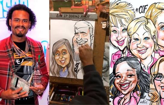 Dominicano es el caricaturista más rápido delmundo