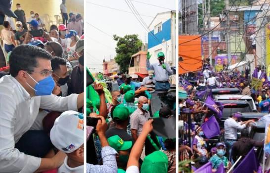 Partidos políticos desafiaron este domingo al COVID-19 en el momento más crítico de lapandemia