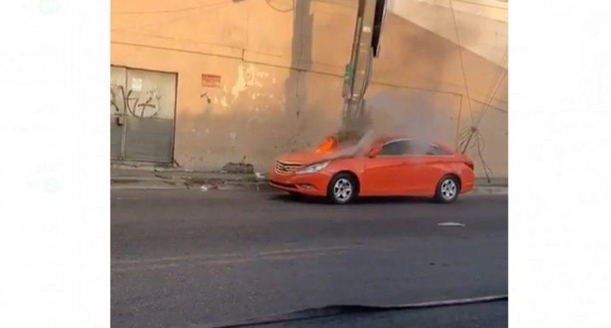 Se incendia vehículo en Santo DomingoOeste