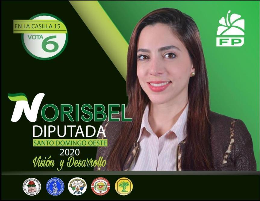 """Norisbel Uceta candidata a Diputada por la FP en SDO """"Educación, Mujer yJuventud"""""""