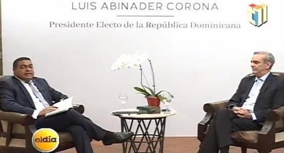 Luis Abinader advierte que no adoptará el denominado «borrón y cuentanueva»