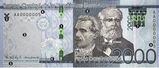 Un nuevo billete de 2,000 pesos circulará en RD a partir demañana