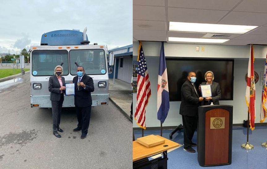 Alcalde Jose Andújar recibe donación de equipos para el ayuntamientoSDO