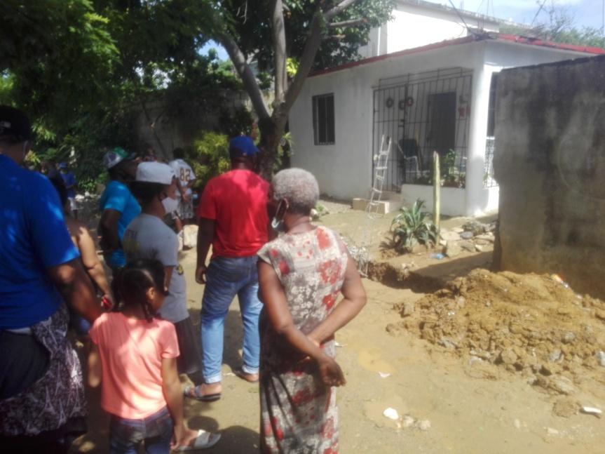Conflicto de callejón en el sector de Hato Nuevo,Manoguayavo