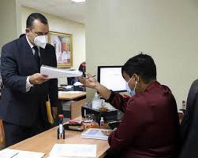 Román Jáquez se inscribe de manera oficial como candidato a presidirJCE