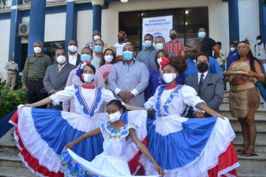 Alcaldía SDO realiza actividad en conmemoración del día de laRaza