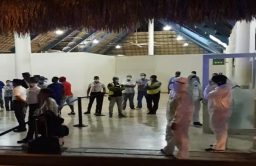 Aislados en base naval 34 dominicanos procedentes del ReinoUnido