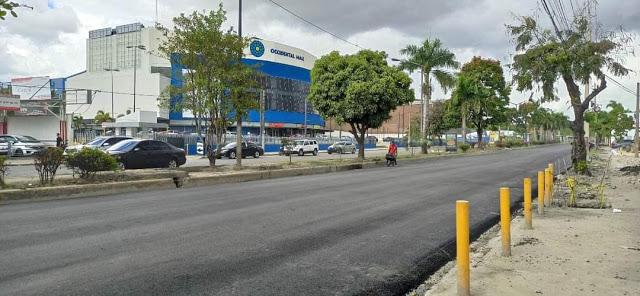 Obras Públicas repara tramo de la avenida Prolongación 27 de Febrero de Santo DomingoOeste