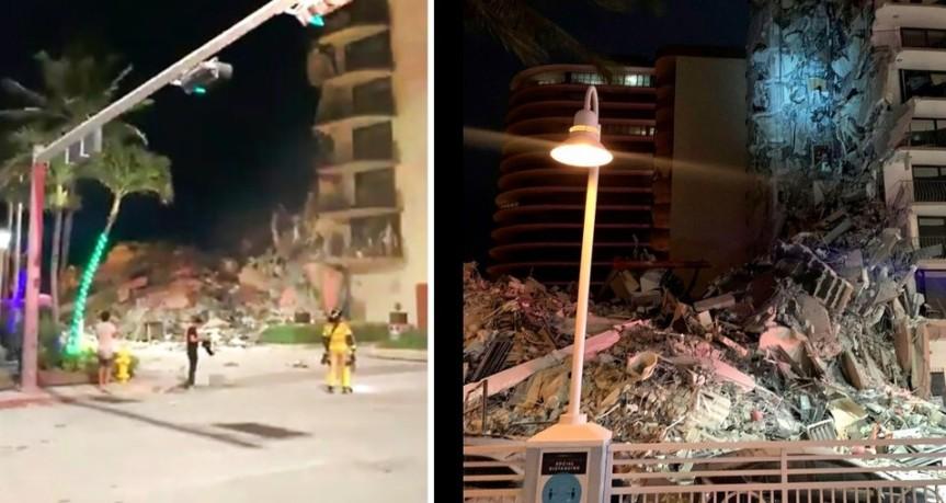 MIAMI: Un muerto en derrumbe de edificio de 12 plantas cerca deplaya;