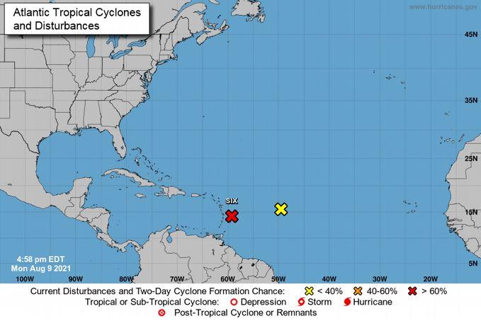 Este martes posible tormenta tropical podría estar cerca de RepúblicaDominicana