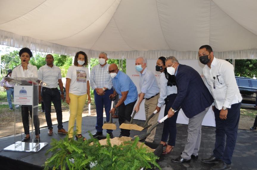 Gobierno inicia construcción de cancha de basquetbol en el residencial Palacio deEngombe