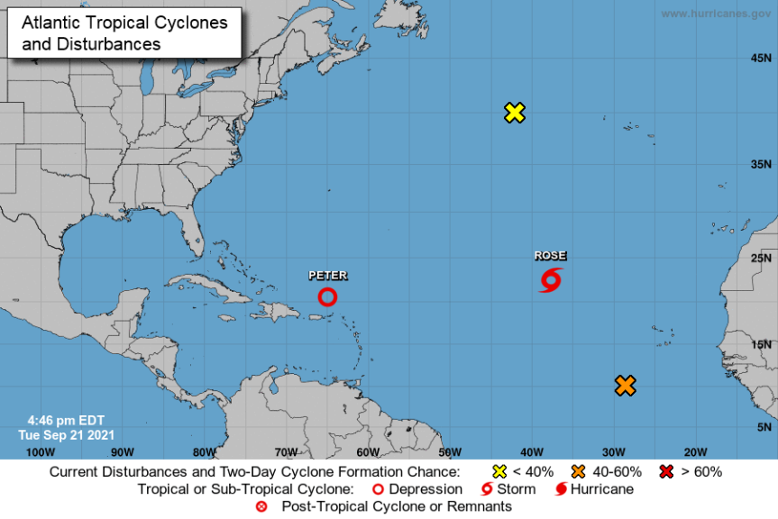 En alerta nueve provincias de la RD por la tormenta tropicalPeter